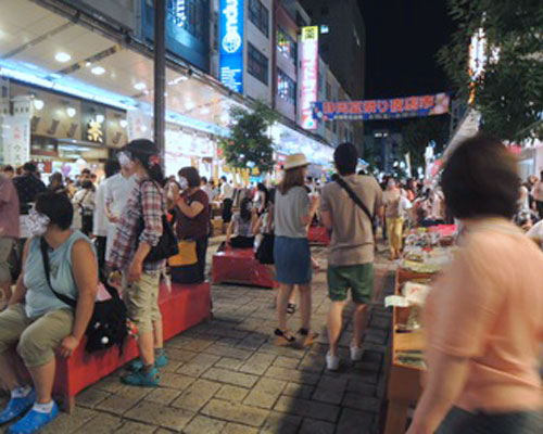 The 56th Shizuoka summer festival night stall city
