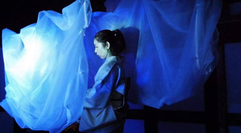 SPAC俳優 関根淳子 ひとり芝居『鬼子母の愛』三味線付き本公演