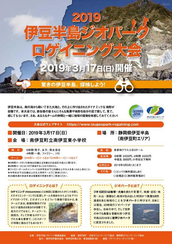 伊豆半島ジオパーク ロゲイニング大会 2019