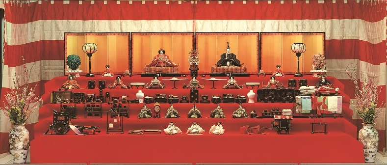 Hina doll exhibition of Grand ship Prince Takamatsu princess