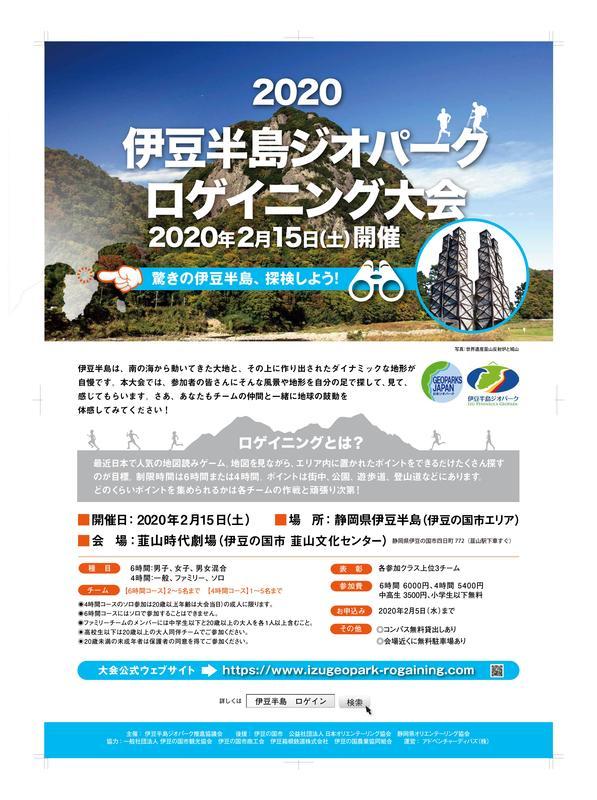 2020伊豆半島ジオパークロゲイニング大会