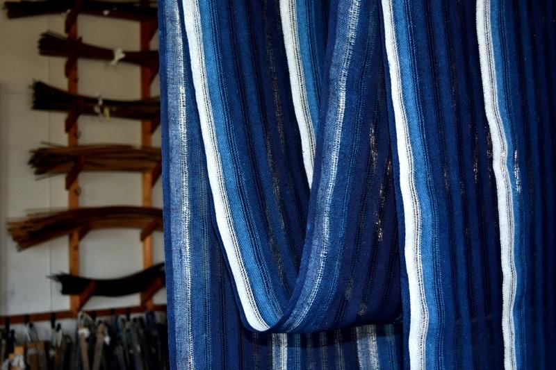 从第12次樱井茂雄书蜡染展~轻微的蓝深的蓝,货真价实的蓝~