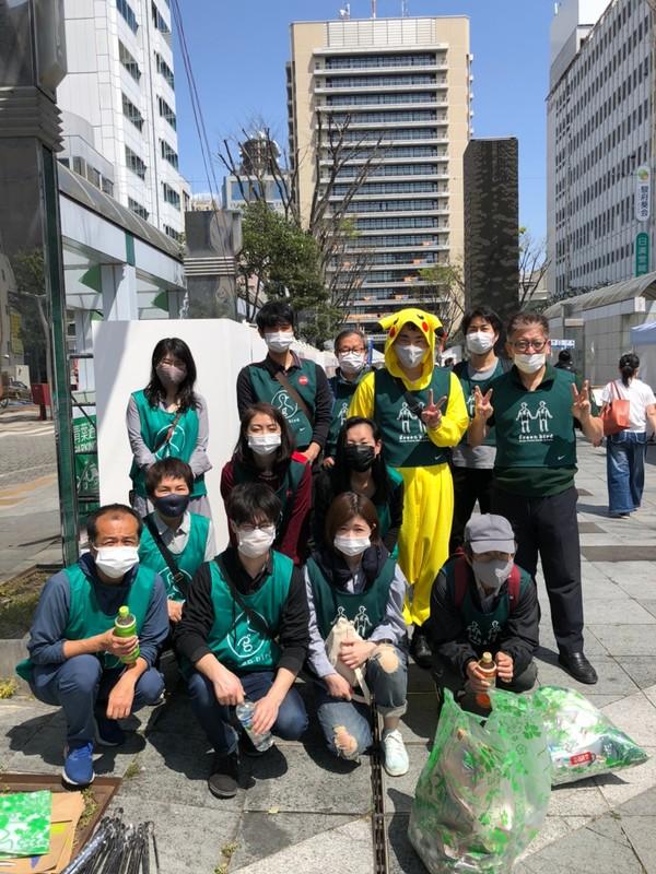 Shizuoka downtown garbage picking