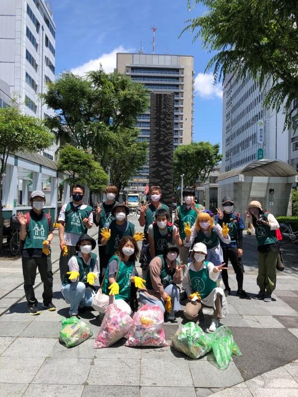 We pick up Shizuoka downtown garbage (7/3)
