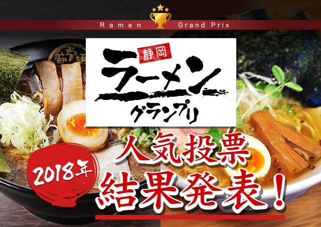静岡ラーメングランプリ 2018年人気投票 結果発表!