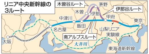 新幹線 ルート 中央 リニア